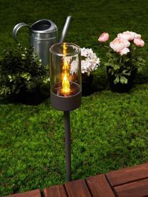 Solar Wegeleuchte Happiness, 2 Stück, Lampenschirm: Kunststoff, Schwarz, Transparent, Ø 6 x H 39 cm