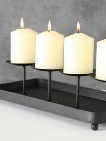 Kerzenhalter Tura, Metall, beschichtet, Schwarz, 40 x 9 cm
