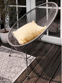Dubbelzijdig in- en outdoor vloerkleed Curacao in vintage stijl, grijs/crèmekleurig, Grijs, crèmekleurig, B 80 x L 150 cm (maat XS)
