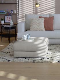 Poggiapiedi da divano in tessuto grigio Tribeca, Struttura: legno di pino massiccio, Piedini: legno di faggio massiccio, Grigio beige, Larg. 82 x Alt. 40 cm