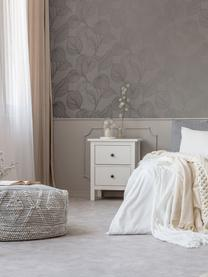 Tapete Luxus Fine Blatter, Vlies, Silberfarben, Grau, 52 x 1005 cm
