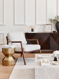 Tavolino in metallo dorato Juliana, Metallo rivestito, Dorato leggermente lucido, Ø 36 x Alt. 45 cm