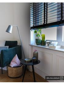 Fluwelen fauteuil Moby in donkergroen met metalen poten, Bekleding: fluweel (hoogwaardig poly, Frame: massief grenenhout., Poten: gepoedercoat metaal., Fluweel donkergroen, B 90 x D 90 cm