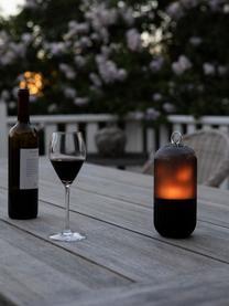 Lampada da esterno per pavimento New Flame, Base della lampada: alluminio, Paralume: materiale sintetico, Nero trasparente, Ø 10 x Alt. 88 cm