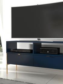 TV-meubel Polka in donkerblauw, Frame: gelamineerd vezelplaat me, Donkerblauw, 120 x 65 cm