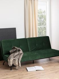 Divano letto in velluto verde Perugia, Rivestimento: poliestere La copertura d, Piedini: metallo verniciato, Velluto verde, Larg. 198 x Prof. 95 cm