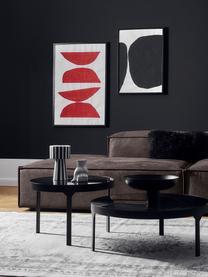 Modulaire XL chaise longue Lennon in bruingrijs van gerecycled leer, Bekleding: gerecycled leer (70% leer, Frame: massief grenenhout, multi, Poten: kunststof De poten bevind, Leer bruingrijs, B 357 x D 119 cm