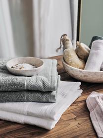 Handdoek Premium in verschillende formaten, met klassiek sierborduursel, Donkergrijs, XS gastendoekje