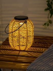 Solar Außenleuchte Treasure zum Hängen oder Stellen, Lampenschirm: Polyrattan, Beige, Ø 16 x H 20 cm