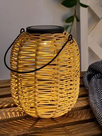Laterna solare da esterno Treasure, Paralume: polirattan, Struttura: materiale sintetico, Beige, Ø 16 x Alt. 20 cm