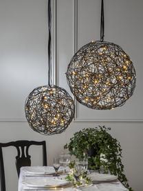 LED-Außenleuchte Trassel mit Stecker, Leuchte: Metall, Aluminium, Schwarz, Ø 30 x H 30 cm