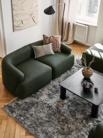 Tavolino da salotto in legno di quercia Didi, Legno di quercia massiccio, verniciato, Nero, Larg. 90 x Alt. 35 cm