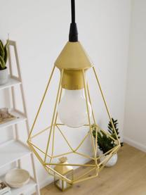 Kleine Pendelleuchte Kyle in Gold, Baldachin: Metall, gebürstet, Lampenschirm: Metall, gebürstet, Goldfarben, Ø 18 cm