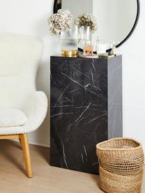 Salontafel Lesley met marmerlook, MDF bekleed met melaminefolie, Gemarmerd zwart, B 90 x D 50 cm