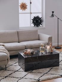 Tavolino da salotto effetto marmo Lesley, Pannello di fibra a media densità (MDF) rivestito con foglio di melamina, Nero marmorizzato, Larg. 90 x Alt. 40 cm