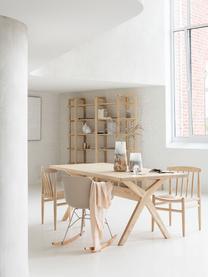 Braunes Holz-Regal Salaton, Skandinavisches Holz, Braun, 200 x 201 cm