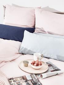 Parure copripiumino in raso di cotone Comfort, Rosa, 255 x 200 cm + 2 federe 50 x 80 cm