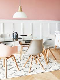 Chaise scandinave cuir synthétique Max, 2pièces, Gris-beige