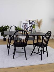 Sedia in legno design Windsor Megan 2 pz, Legno di caucciù verniciato, Nero, Larg. 46 x Prof. 51 cm