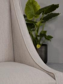 Sedia imbottita in tessuto beige Savannah, Rivestimento: poliestere 49.000 cicli d, Gambe: legno di faggio massello , Rivestimento: beige gambe: marrone chiaro, Larg. 60 x Prof. 60 cm