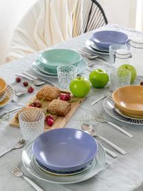 Set 18 piatti con motivi colorati per 6 persone Marea, Blu, bianco, giallo, Set in varie misure