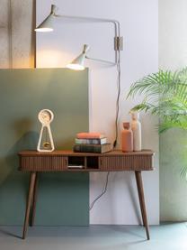 Holz-Konsole Barbier mit Stauraum, Korpus: Mitteldichte Holzfaserpla, Walnussholz, B 120 x T 35 cm