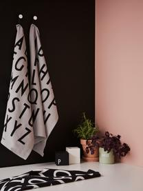 Baumwoll-Geschirrtücher Classic in Schwarz mit Designletters, 2 Stück, Baumwolle, Schwarz, 40 x 60 cm