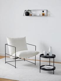 Tavolino rotondo in legno nero Renee, Ripiani: pannello di fibra a media, Struttura: metallo verniciato a polv, Nero, Ø 44 x Alt. 49 cm