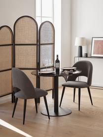 Runder Esstisch Karla in Marmoroptik, Tischplatte: Mitteldichte Holzfaserpla, Tischplatte: Schwarz, marmoriert Tischbein: Schwarz, matt, ∅ 90 x H 75 cm