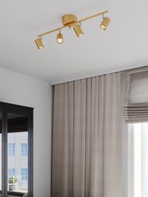 Großer Deckenstrahler Correct in Gold, Baldachin: Metall, beschichtet, Goldfarben, 83 x 18 cm