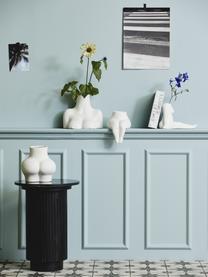 Design-Vase Avaji in Weiß, Keramik, Weiß, 22 x 23 cm