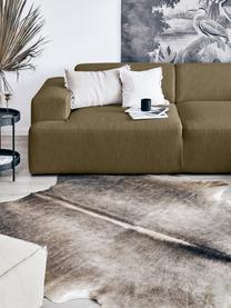 Bank Melva (3-zits) in olijfgroen, Bekleding: 100% polyester, Frame: massief grenenhout, FSC-g, Poten: kunststof, Geweven stof olijfgroen, 238 x 101 cm