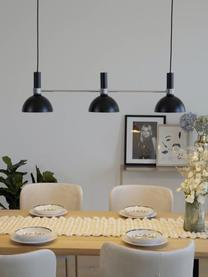 Grande suspension scandinave 3 lampes Larry, Noir,chrome