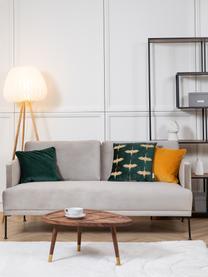 Poszewka na poduszkę z aksamitu Dana, 100% aksamit bawełniany, Szmaragdowy, S 50 x D 50 cm