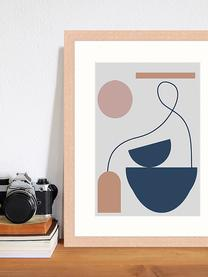 Gerahmter Digitaldruck Abstract Composition, Bild: Digitaldruck auf Papier, , Rahmen: Holz, lackiert, Front: Plexiglas, Mehrfarbig, 33 x 43 cm