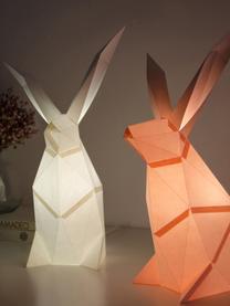 Tischleuchte Rabbit, Bausatz aus Papier, Lampenschirm: Papier, 160 g/m², Sockel: Holzfaserplatte und Kunst, Weiß, 18 x 34 cm