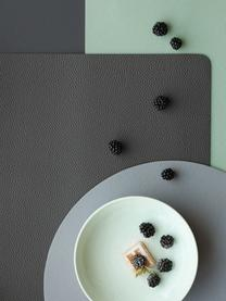 Podkładka ze sztucznej skóry Pik, 2 szt., Tworzywo sztuczne (PVC), Czarny, S 33 x D 46 cm