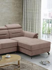 Sofa narożna z funkcją spania i miejscem do przechowywania Missouri (4-osobowa), Tapicerka: 100% poliester, Beżowy, S 259 x G 164 cm