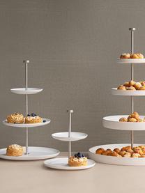 Présentoir à gâteau céramique Kier, Ø30cm, Blanc
