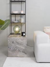Kleine tafellamp Milla van gekleurd glas, Lampenkap: glas, Lampvoet: messing, Groen, messingkleurig, zwart, Ø 22 x H 28 cm