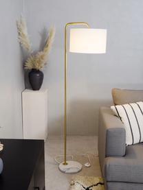 Liseuse marbre Montréal, Blanc, couleur dorée
