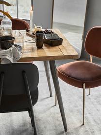 Esstisch Kapal mit Massivholzplatte, Tischplatte: 4 cm starkes, recyceltes , Beine: Stahl mit metallischen Ge, Teakholz, B 160 x T 80 cm