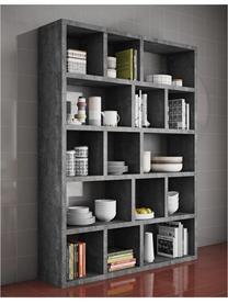 Bücherregal Portlyn, Oberfläche: Melaminschicht., Grau, 150 x 198 cm