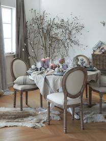 Krzesło tapicerowane Mathilde, 2 szt., Tapicerka: 64% bawełna, 36% len, Stelaż: drewno brzozowe, lakierow, Tapicerka: pianka, Jasny beżowy, drewno brzozowe, S 48 x G 46 cm