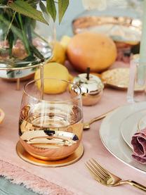 Onderzetter Cheers in goudkleur, 4 stuks, Gecoat metaal, Goudkleurig, Ø 10 cm