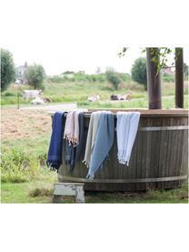 Fouta Soft Cotton, Reverso: afelpado, Rosa, blanco, An 100 x L 180 cm