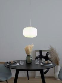 Lampa wisząca ze szkła opalowego Mildford, Biały, Ø 30 x W 28 cm