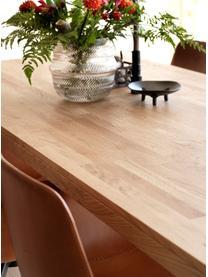 Verlengbare massief houten eettafel Brooklyn uit eikenhout, Massief transparant gelakt eikenhout, Eikenhout, B 220 tot 270 x D 95 cm