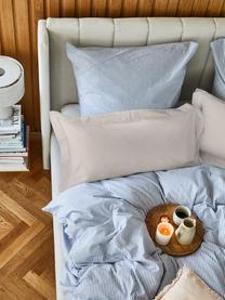 Baumwollsatin-Kissenbezüge Premium in Taupe mit Stehsaum, 2 Stück, Webart: Satin Fadendichte 400 TC,, Taupe, 40 x 80 cm
