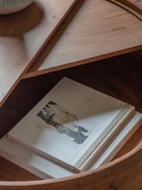 Stolik kawowy  z miejscem do przechowywania Risby, Korpus: płyta pilśniowa średniej , Stelaż: metal lakierowany, Brązowy, Ø 83 x W 40 cm